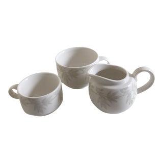 Villeroy & Boch Janda White Premium Porcelain Coffee & Cream Set - Set of 3