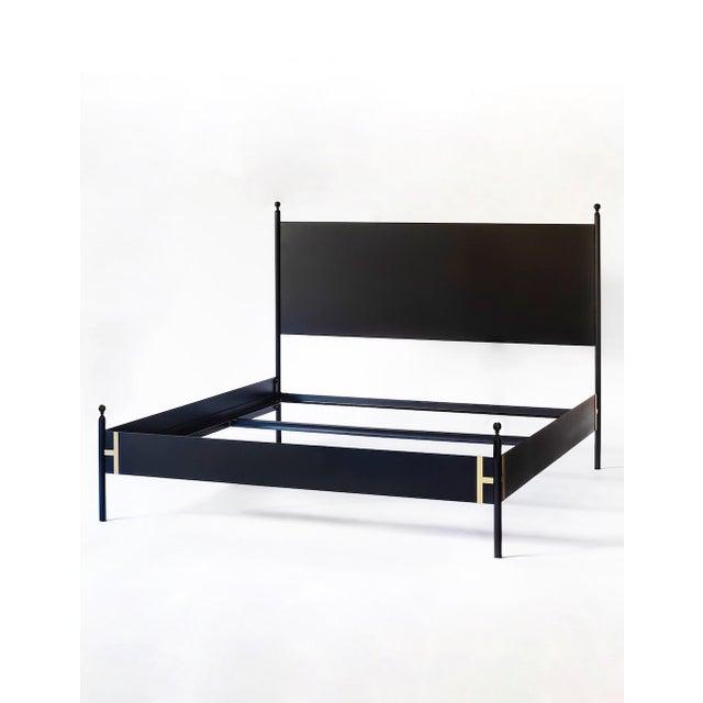 Black Modern Josephine King Metal Bedframe For Sale - Image 8 of 8