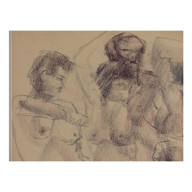 Vintage Drawing of Nudes by Paul Silverthorne For Sale - Image 4 of 5