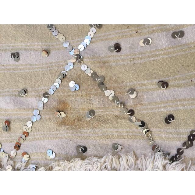 Boho Chic Moroccan Wedding Berber Blanket For Sale - Image 3 of 10