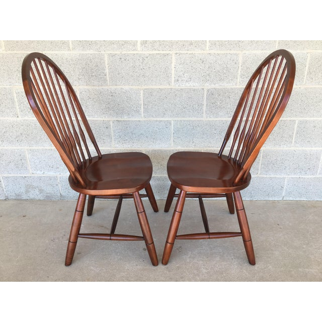 2010s Modern Ethan Allen New Country Hoop Back Gilbert Side Chairs- A Pair For Sale - Image 5 of 12