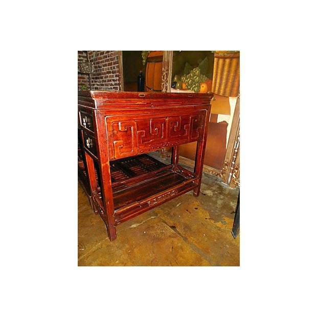 Rare Chinese Rosewood Partner's Desk, C. 1920 - Image 5 of 9