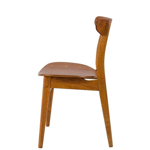 Set of Eight Hans Wegner CH 30 Dining Chairs For Sale In Los Angeles - Image 6 of 10
