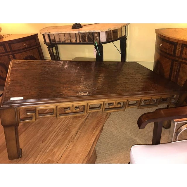 Asian Style and Greek Key Combo Cocktail Table For Sale In New York - Image 6 of 8