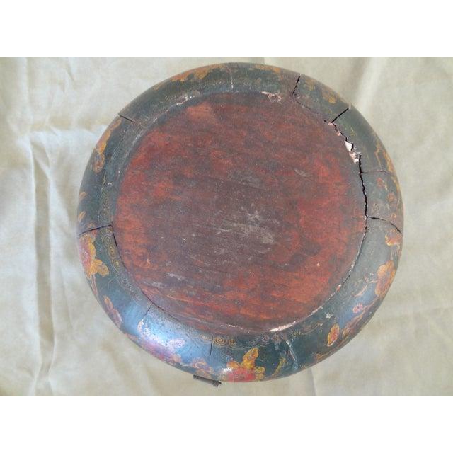Tibetan Round Wood Box - Image 5 of 10