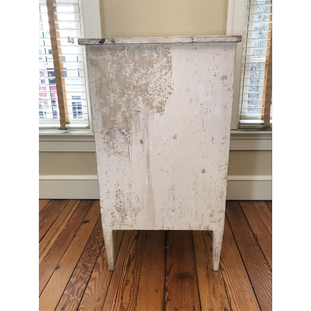 1880s French Painted White Chest Commode Chest For Sale - Image 9 of 9