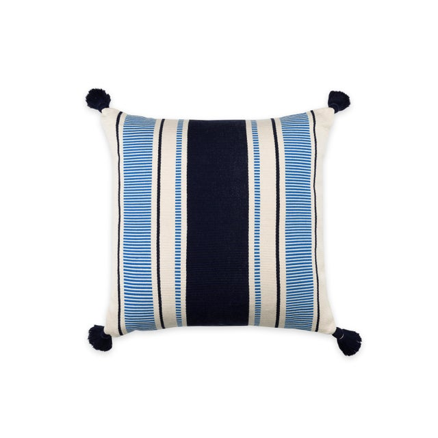 Cabana Stripe Pillow For Sale - Image 4 of 4