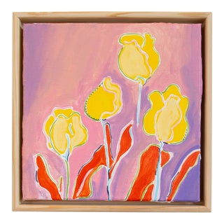 Kate Lewis Four Tulips Original Painting For Sale