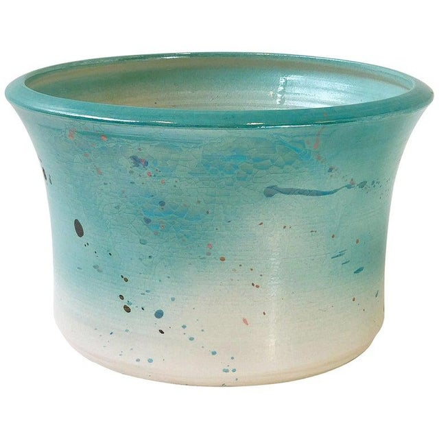 Teal Studio Ceramic Planter by Gary McCloy for Steve Chase For Sale - Image 8 of 8