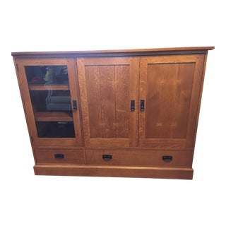 Mission Oak Entertainment Cabinet