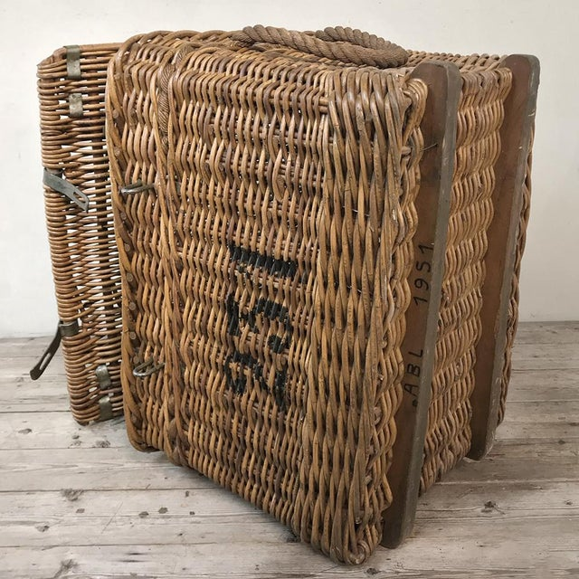 Antique Wicker Basket For Sale - Image 10 of 13