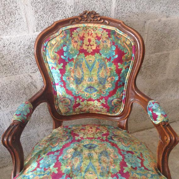 Multicolor Louis XVI Chairs - A Pair - Image 6 of 6