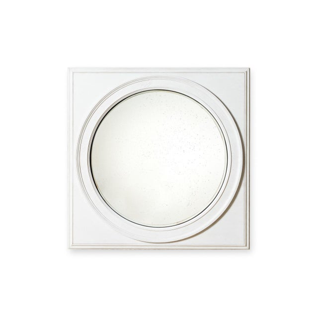 Shane Wooden Convex Mirror For Sale - Image 4 of 4