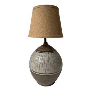 1950s Mid-Century California Ceramic Designers Earthtone Pottery Table Lamp For Sale