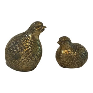 Vintage Brass Doves - a Pair For Sale