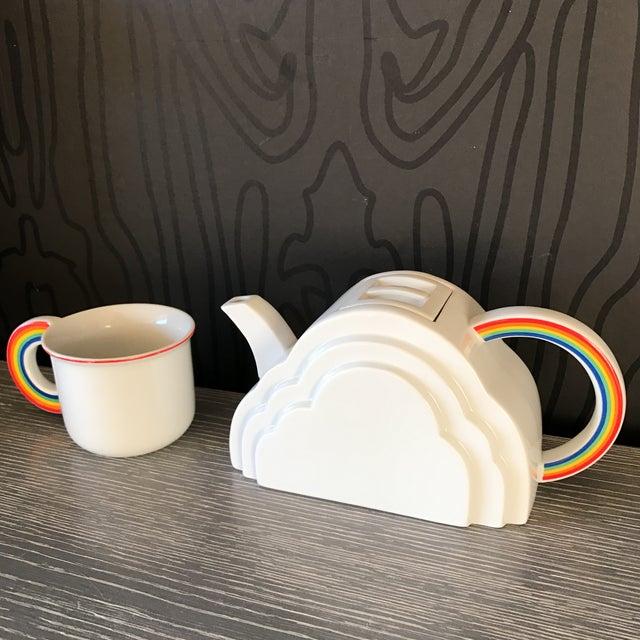 Japanese Cloud and Rainbow Teapot and Mug Set - Image 3 of 7
