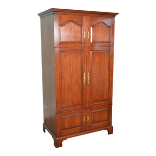 Henkel Harris Solid Cherry Large Media Armoire Cabinet For Sale
