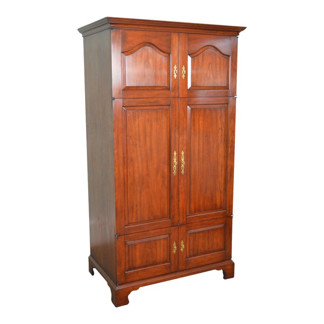 Henkel Harris Solid Cherry Large Media Armoire Cabinet ...