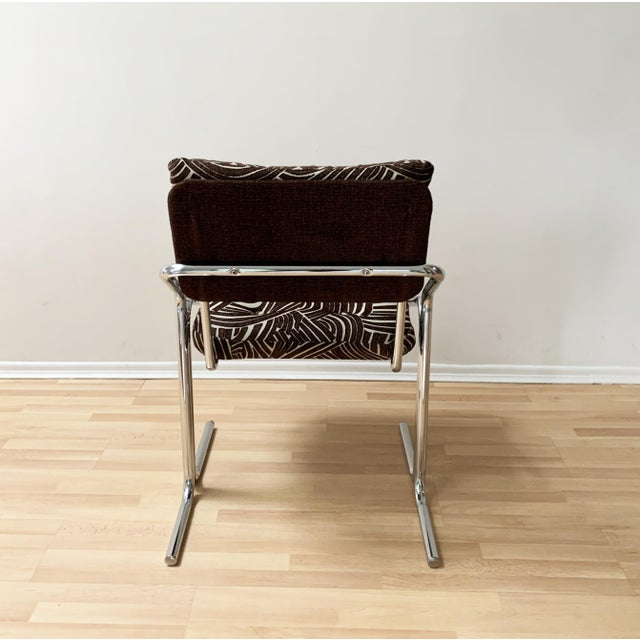 Metal Jerry Johnson Style Upholstered Accent Chair For Sale - Image 7 of 9