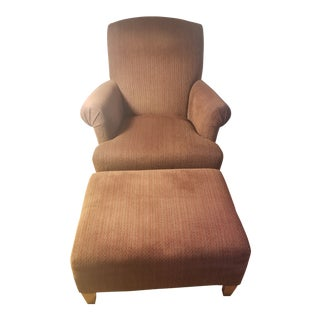 Modern Maurice Villency Arm Chair & Ottoman For Sale