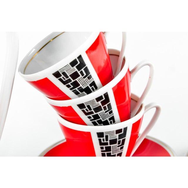 Art Deco Porcelain German Espresso Set - 17 Pieces - Image 5 of 11