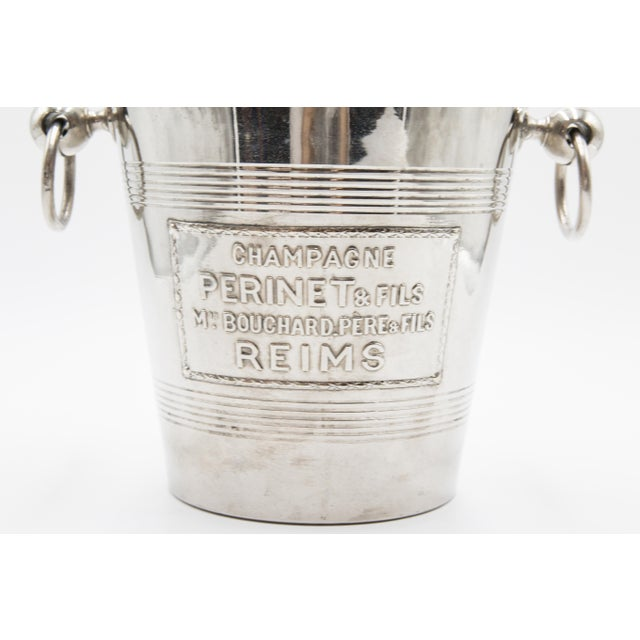 Mid-Century French Silver Plate Champagne Bucket For Sale - Image 4 of 8