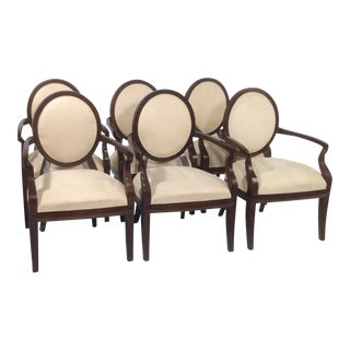 Modern Dining Chairs With Arms- Set of 6 For Sale