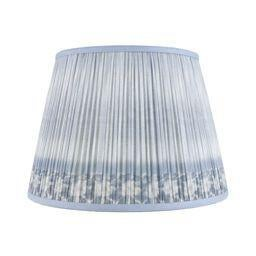 """Boho Chic Ikat Printed Lamp Shade 14"""", Blue For Sale - Image 3 of 3"""