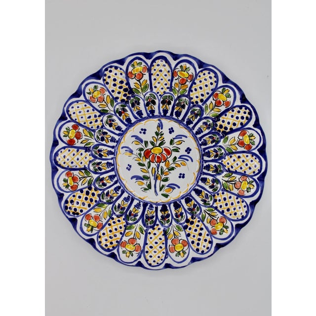 French Country Ceramic Hanging Plate For Sale - Image 11 of 12