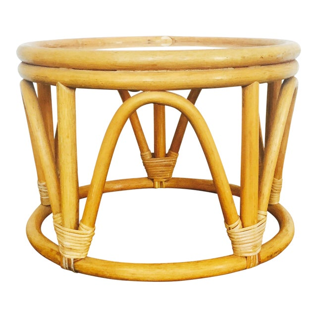 Vintage Bent Bamboo Side Table - Image 1 of 6