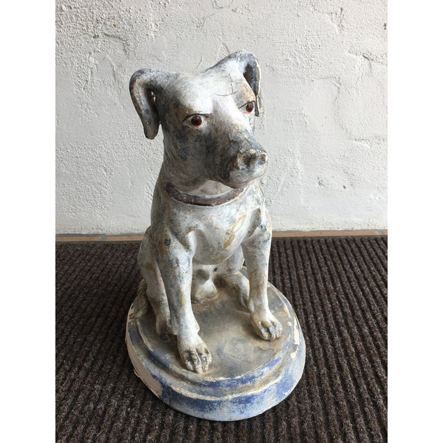 Mid 20th Century Vintage Mid Century Dog Statue For Sale - Image 5 of 10