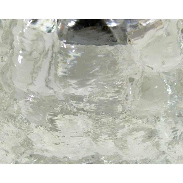 Mid-Century Glass Ice Cube Lighter For Sale In Miami - Image 6 of 6