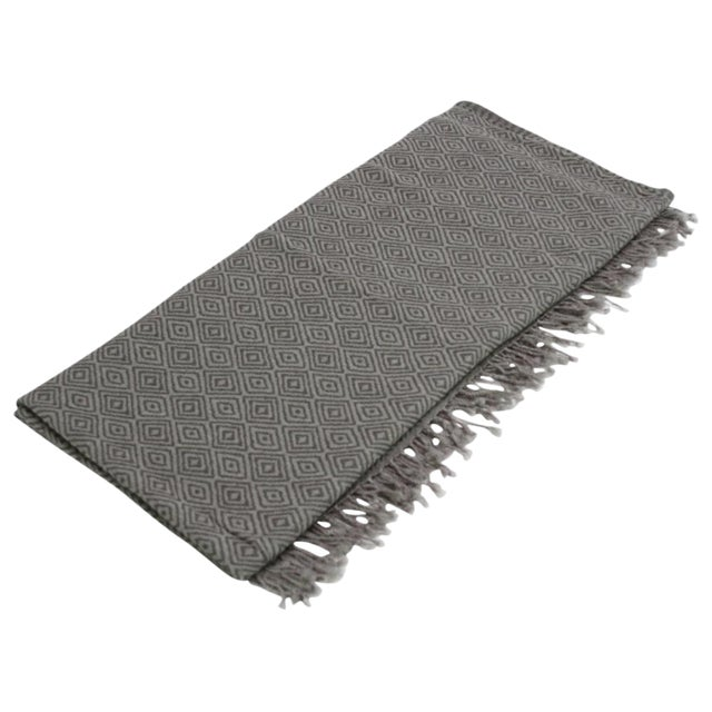 Diamond Patterned Jammu Throw - Image 1 of 5