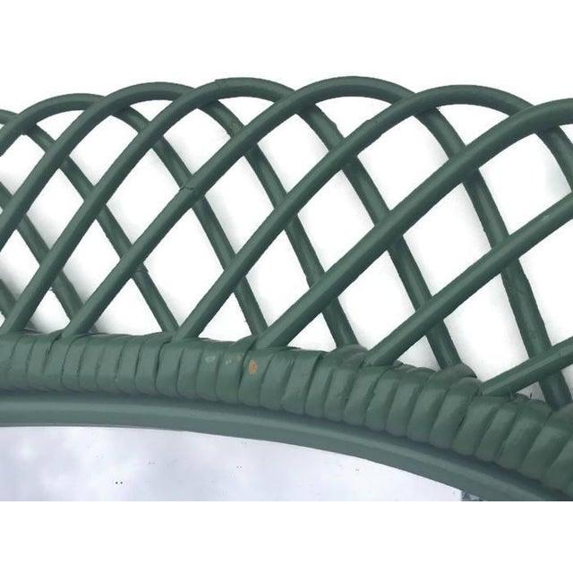 "Mid Century Bent Bamboo Wall Mirror Italian 31"" - Image 5 of 10"