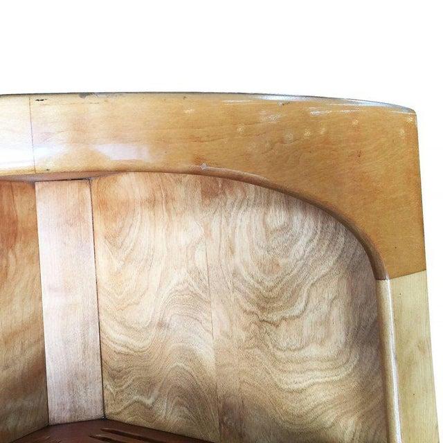 Heywood-Wakefield Blonde Streamline Maple Corner Cupboard Cabinet - Image 8 of 8