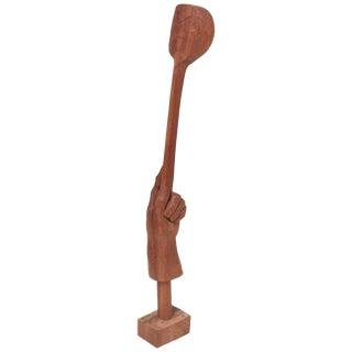 Wooden Studio Sculpture by Ben Rouzie, Us, 1960s For Sale