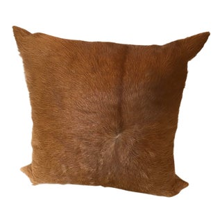 Cowhide and Suede Pillow For Sale