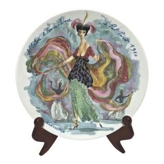 "Limoges Les Femmes Du Siecle, ""Albertine"" Decorative Plate For Sale"