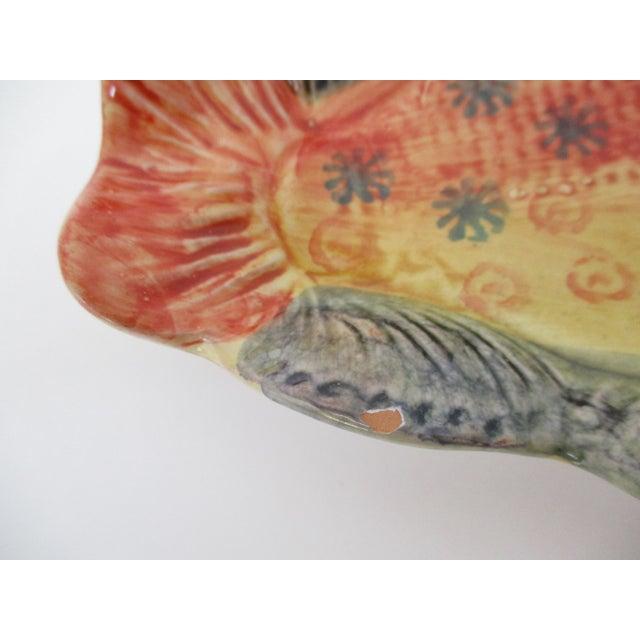 Ceramic Italian Hanging Fish Plates, Set of 3 For Sale - Image 7 of 8