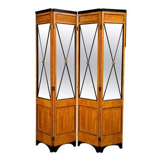 Satinwood Biedermeier Style Screen For Sale