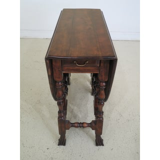 Walnut Gateleg Drop Leaf Table With Drake Carved Feet Preview