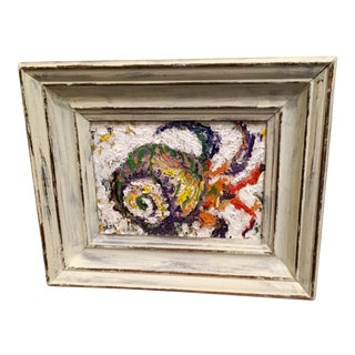 """""""Snail in Shell"""" Framed Original Oil Painting, Signed For Sale"""
