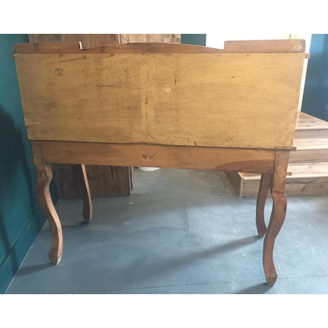 1970s French Country Louie XV Provincial Writing Desk With Hutch For Sale - Image 11 of 13