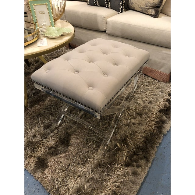 Modern Chelsea House Soho Tufted Bench For Sale In Chicago - Image 6 of 9