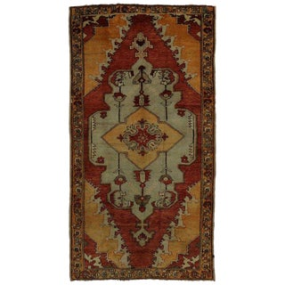 20th Century Turkish Oushak Area Rug For Sale