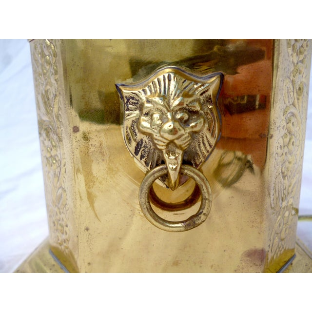 Golden Oriental Style Brass Lamp - Image 6 of 7