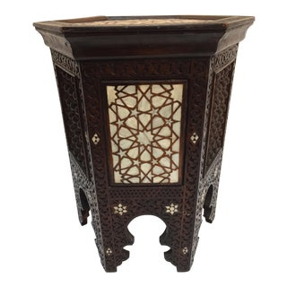 19th Century Middle Eastern Moorish Mother-Of-Pearl Inlaid Side Table For Sale
