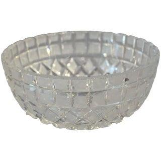 1920s Art Deco Cut Glass Bowl For Sale