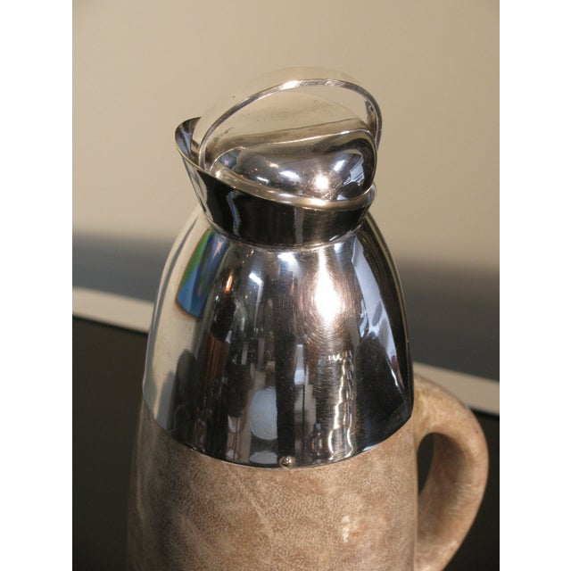 Aldo Tura Lacquered Goatskin Carafe on Stand - Image 5 of 8