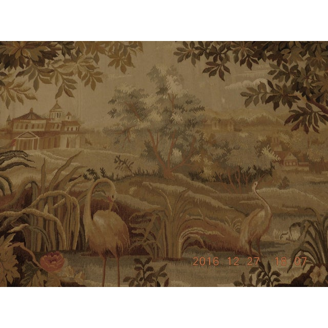 """Chineses Abusson Style Tapestry. 4'x 5'8"""" For Sale - Image 10 of 10"""